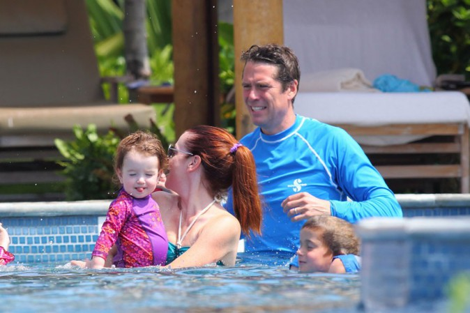 Alyson Hannigan en vacances à Hawaï le 2 octobre 2013
