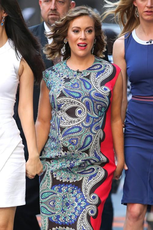 Alyssa Milano en promo pour Mistresses à New-York le 2 juin 2014