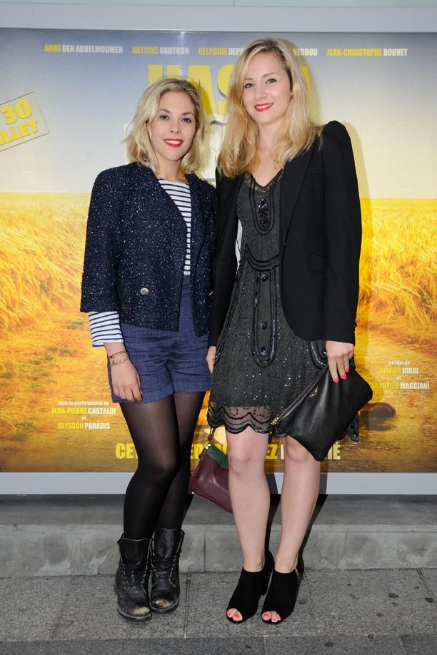 Alysson Paradis et Delphine Depardieu à l'avant-première d'Hasta Mañana organisée à Paris le 29 juillet 2014 !