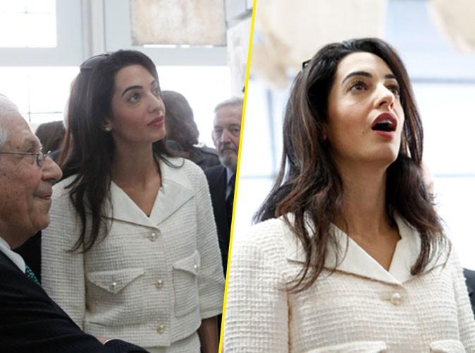 Amal Clooney à Athènes le 15 octobre 2014