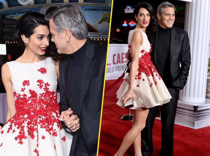 Amal et George Clooney : couple glamour et ultra complice sur red carpet !