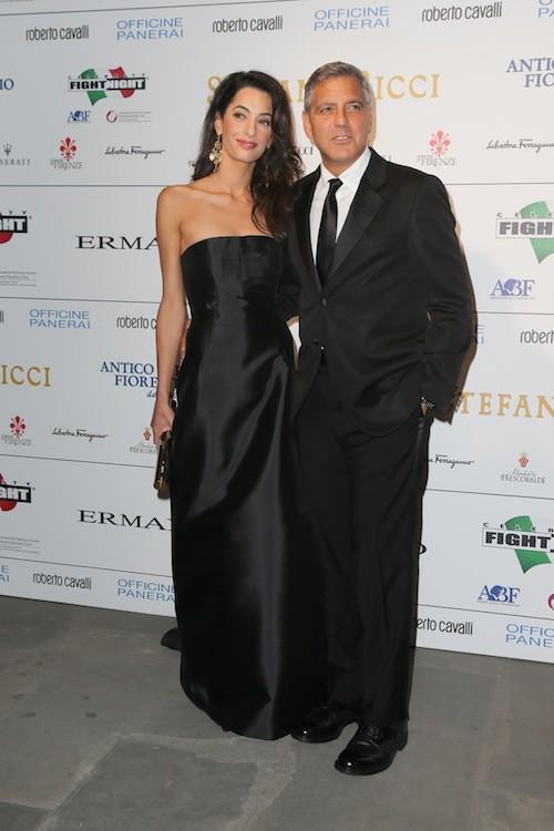 Amal Alamuddin et George Clooney début septembre 2014, quelques jours avant leur mariage