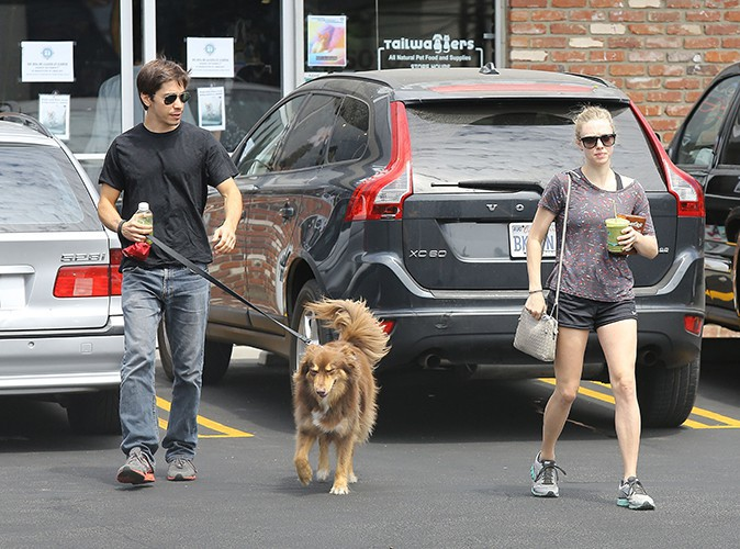 Amanda Seyfried et Justin Long à Los Angeles le 31 août 2013
