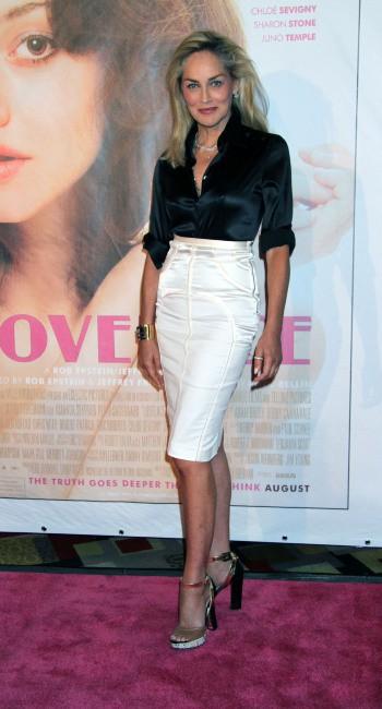 Sharon Stone lors de la première du film Lovelace à Las Vegas, le 4 août 2013.
