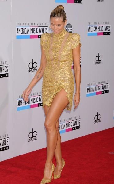 Heidi Klum lors des American Music Awards 2012 à Los Angeles, le 18 novembre 2012.