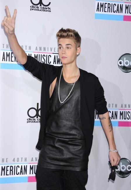 Justin Bieber lors des American Music Awards 2012 à Los Angeles, le 18 novembre 2012.