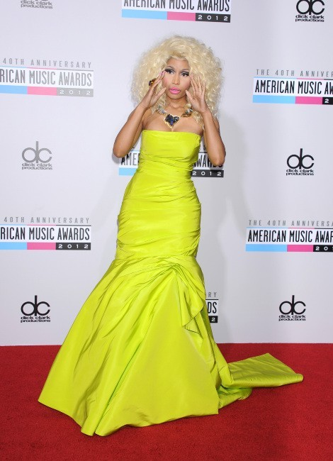 Nicki Minaj lors des American Music Awards 2012 à Los Angeles, le 18 novembre 2012.