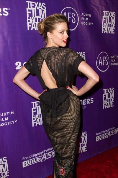 "Amber Heard lors de la soirée ""Texas Film Awards"" à Austin, le 6 mars 2014."