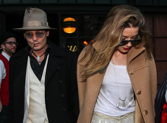 Amber Heard et Johnny Depp : nouvelle sortie remarquée à New-York pour les deux futurs mariés !
