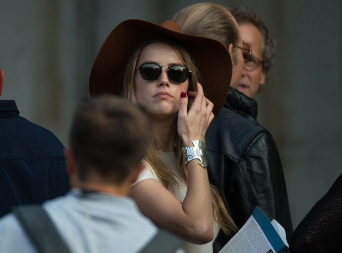 Amber Heard à Boston le 21 juillet 2014