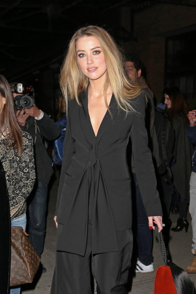 Amber Heard le 16 avril 2015