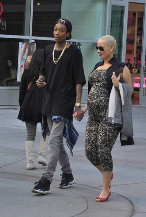 Amber Rose et Wiz Khalifa à Los Angeles le 17 janvier 2013