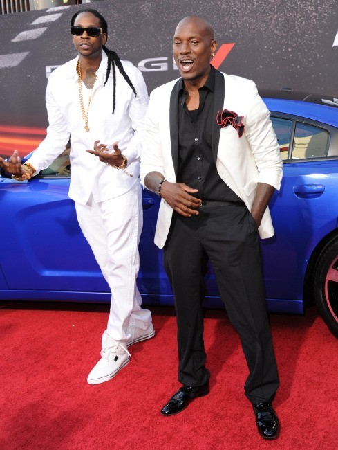 Le rappeur 2 Chainz et Tyrese Gibson