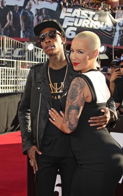 Wiz Khalifa et Amber Rose, amoureux à la première de Fast and Furious 6