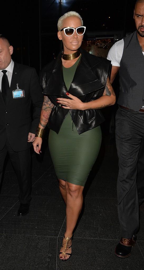 Photos : Amber Rose : moulée comme jamais pour faire la fête à Londres !