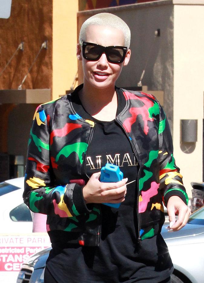 Amber Rose dans les rues de Los Angeles, le 21 octobre