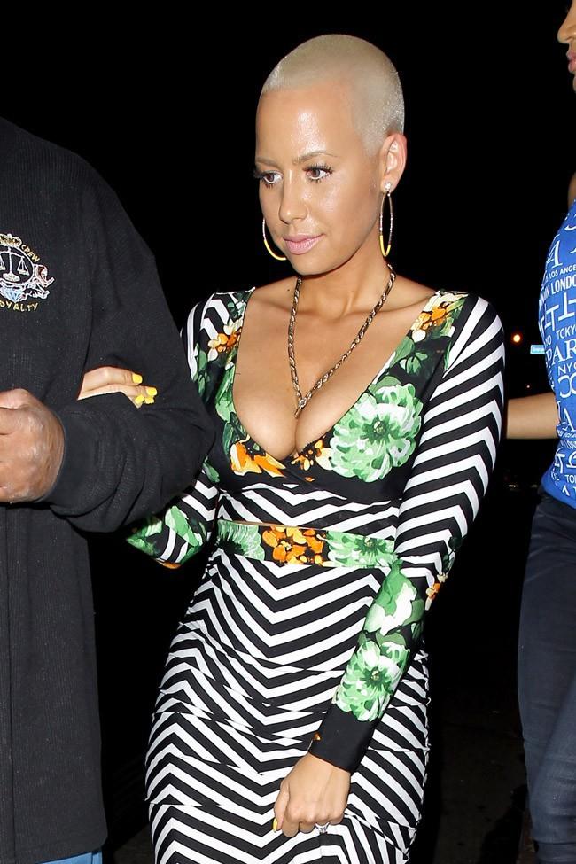 Amber Rose à l'anniversaire de Carmen Electra organisé le 24 avril 2014 à West Hollywood