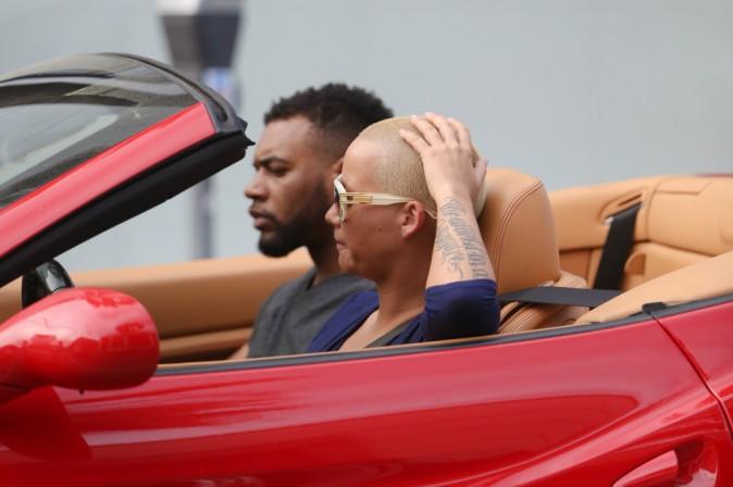 Photos : Amber Rose : une bimbo jamais solo, Wiz Khalifa heureux sans elle !