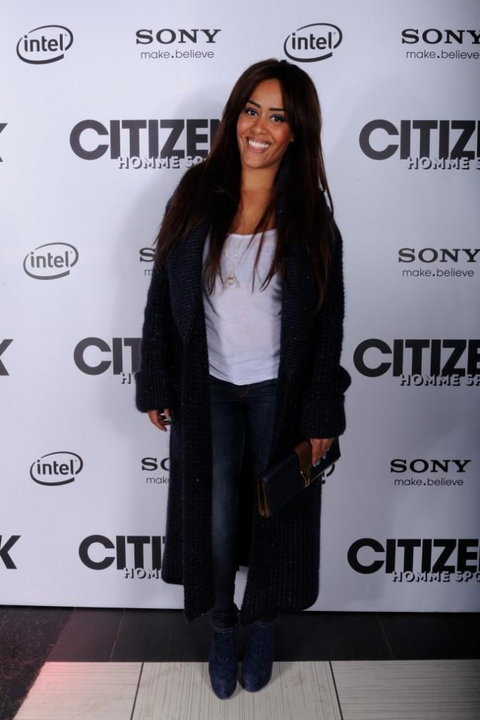 Amel Bent lors de la soirée de lancement du magazine Citizen K Homme Sport à Paris, le 28 mars 2013.