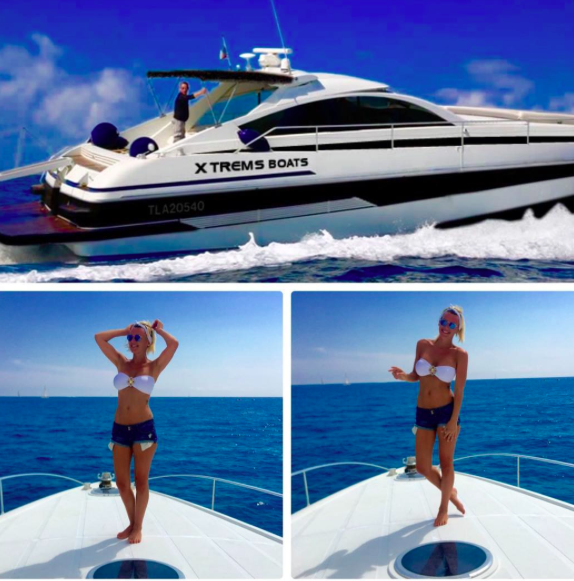 Amélie Neten en vacances à St Tropez