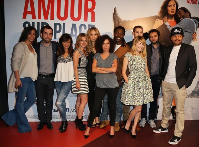 """L'équipe de """"Amour sur place à emporter"""" à Paris le 26 mai 2014"""
