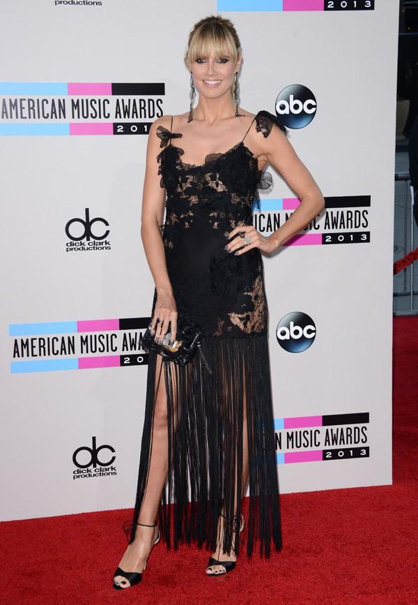 Heidi Klum à la cérémonie des American Music Awards organisée à Los Angeles le 24 novembre 2013