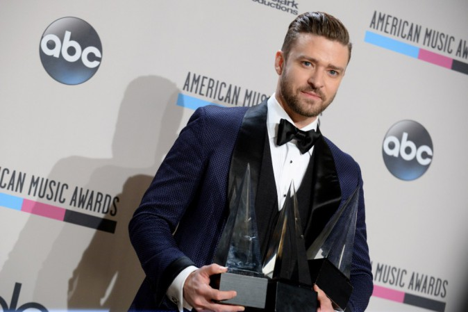 Justin Timberlake lors des American Music Awards à Los Angeles, le 24 novembre 2013.