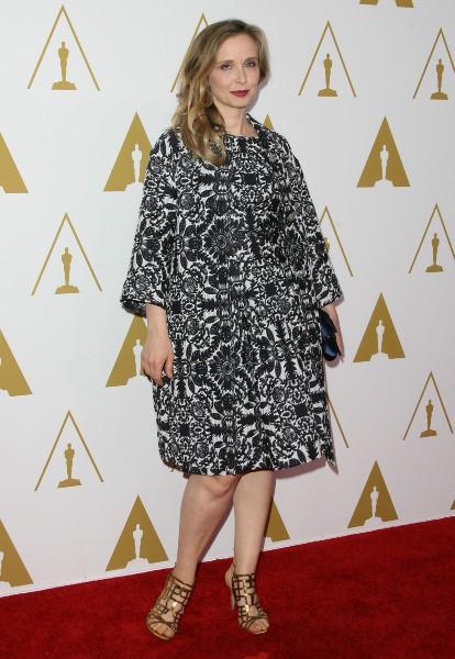 Julie Delpy lors du déjeuner des nommés aux Oscars, le 10 février 2014.