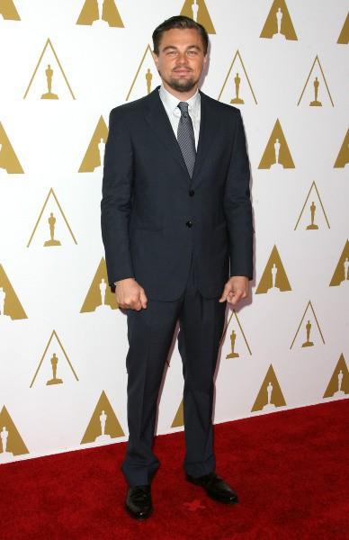 Leonardo DiCaprio lors du déjeuner des nommés aux Oscars, le 10 février 2014.