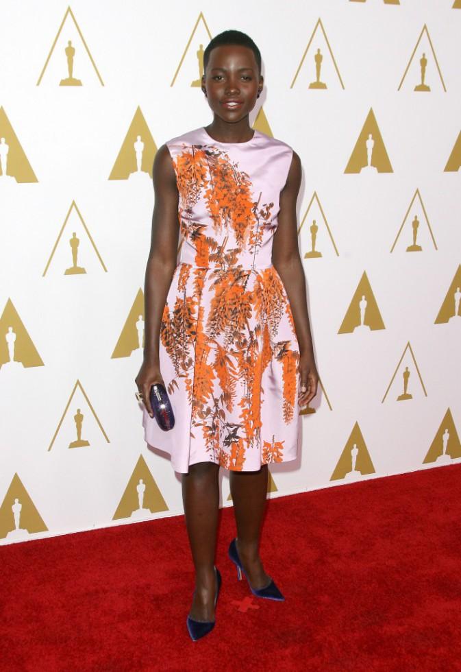 Lupita Nyong'o lors du déjeuner des nommés aux Oscars, le 10 février 2014.