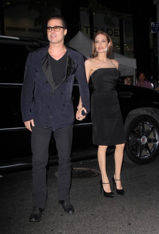 Brad Pitt et Angelina Jolie à New York, le 12 mai 2014.