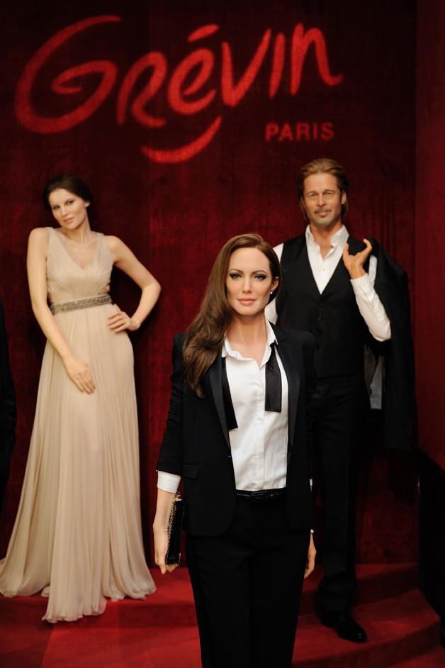 Inauguration de la statue de cire d'Angelina Jolie au musée Grévin le 3 juillet 2014