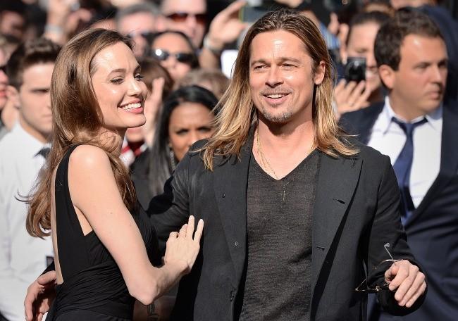 Angelina Jolie et Brad Pitt lors de la première de World War Z à Londres, le 2 juin 2013.