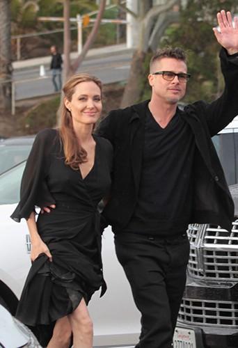 Angelina Jolie et Brad Pitt à Los Angeles le 1er mars 2014