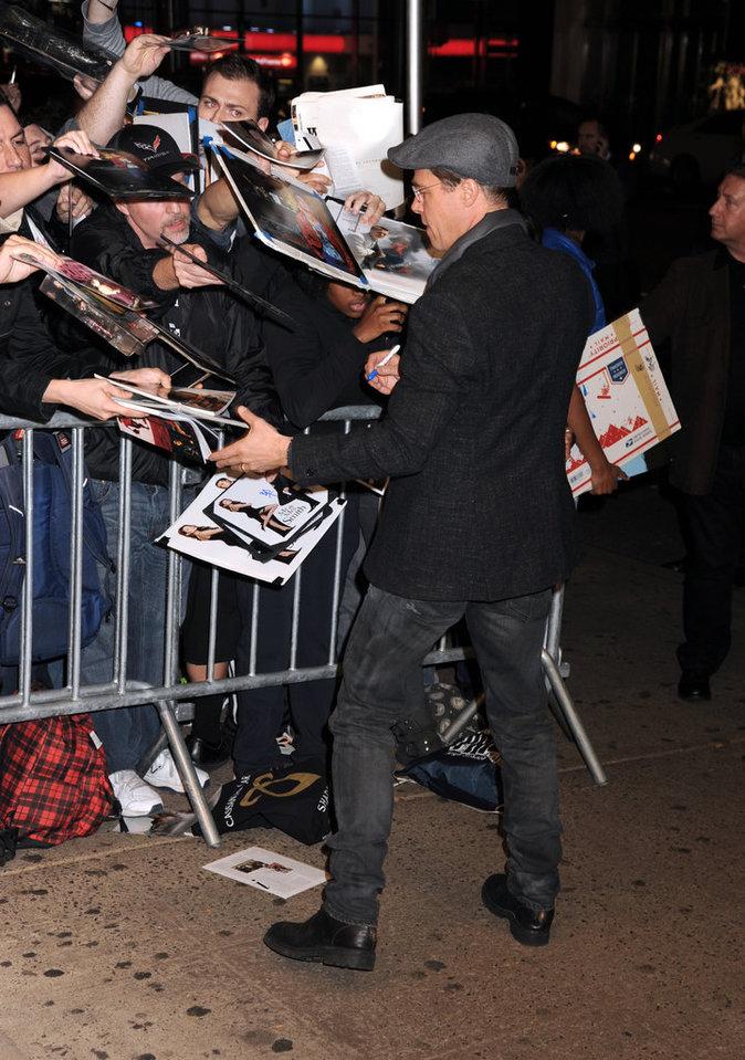 Angelina Jolie et Brad Pitt le 3 novembre 2015