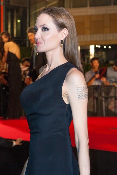 """Angelina Jolie lors de la première de """"World War Z"""" à Tokyo, le 29 juillet 2013."""