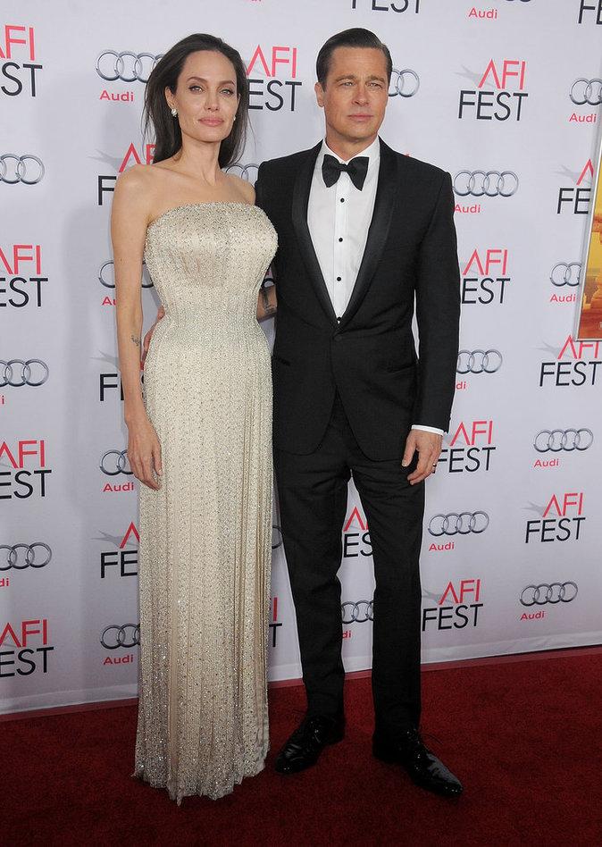 Angelina Jolie et Brad Piit le 5 novembre 2015