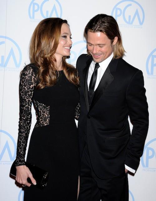 Brad Pitt et Angelina Jolie à Los Angeles en janvier 2012
