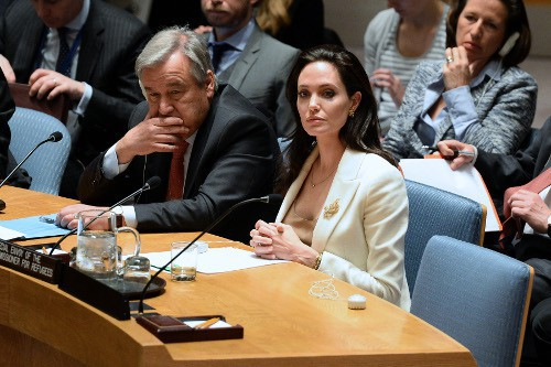 Angelina Jolie à New-York le 24 avril 2015