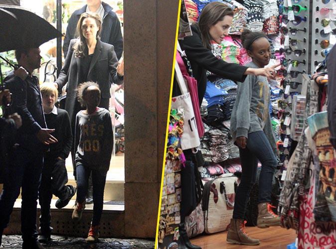 Angelina Jolie, Shiloh et Zahara le 7 janvier 2015