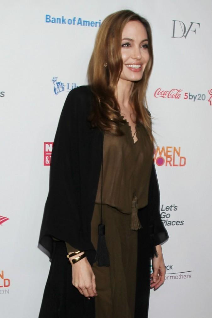 "Angelina Jolie lors de la soirée ""Women in the World Gala"" à New York, le 4 avril 2013."