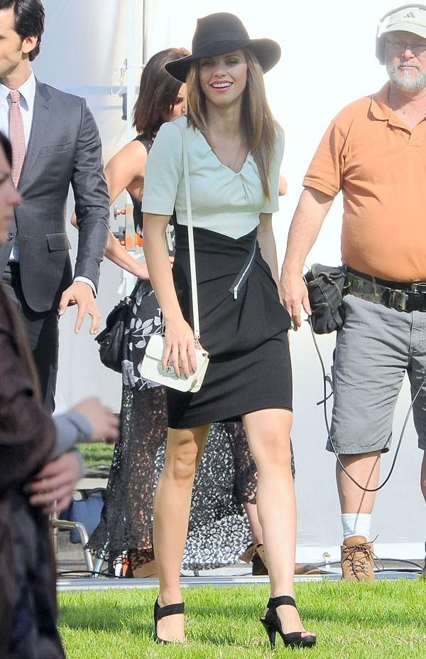 AnnaLynne McCord sur le tournage de 90210 à Hollywood