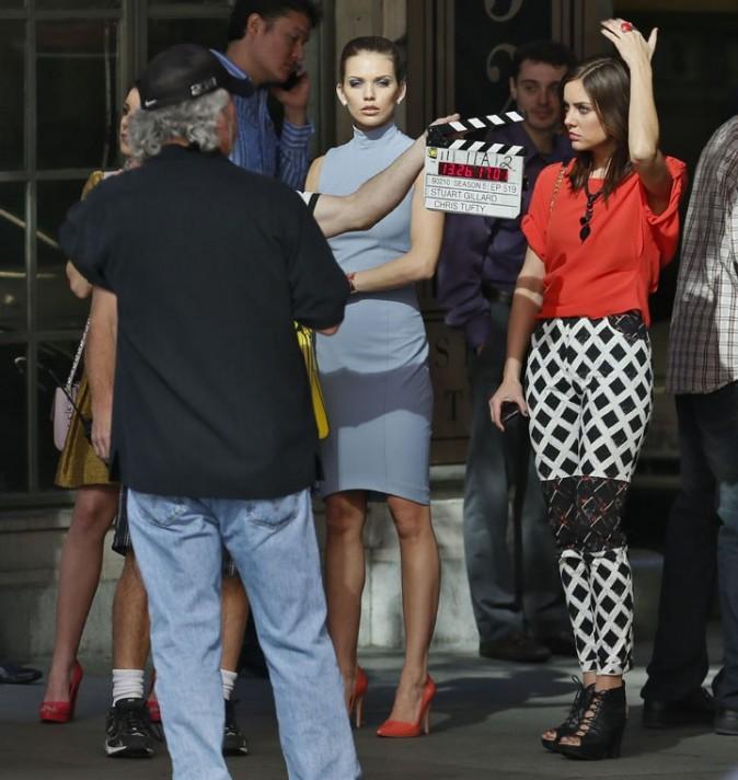 AnnaLynne McCord sur le tournage de 90210 à Los Angeles le 31 janvier 2013