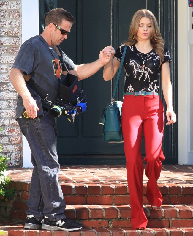 AnnaLynne McCord sur le tournage de 90210 à Los Angeles le 24 octobre 2012