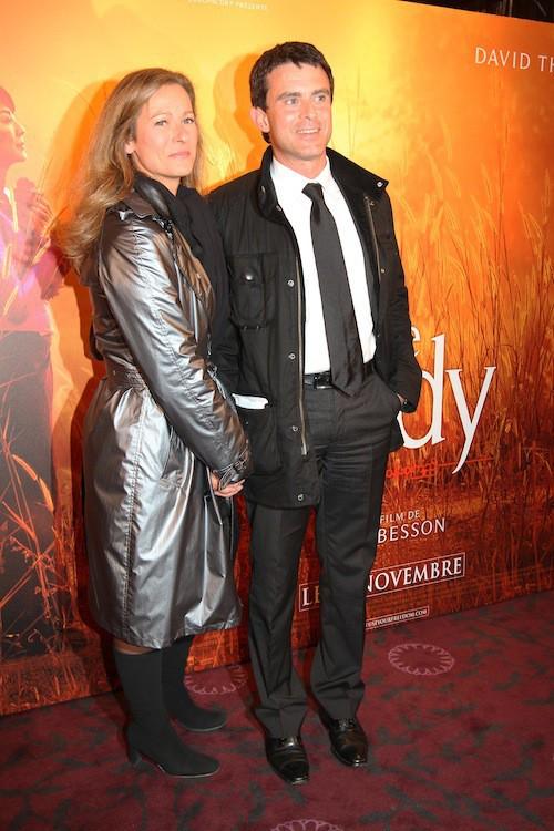 Anne Gravoin et Manuel Valls à la première du film The Lady en 2011