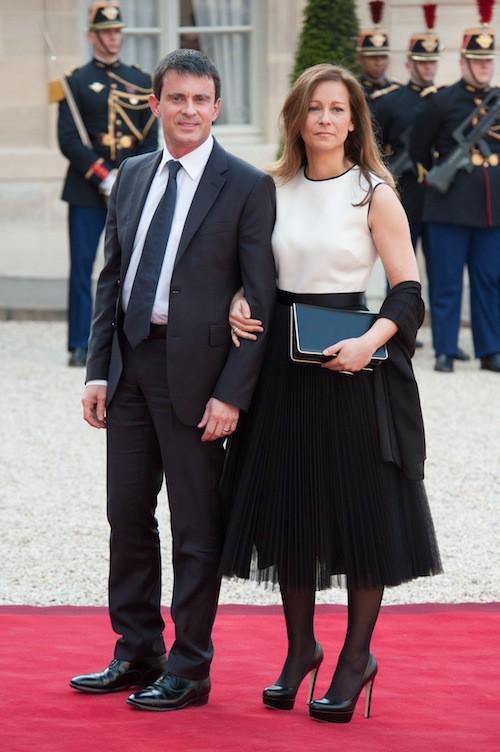 Dîner officiel à l'Elysée en 2013 avec le président polonais