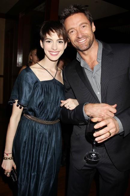 Anne Hathaway et Hugh Jackman à New York, le 2 décembre 2012.