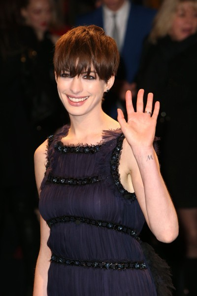 Anne Hathaway lors de la première du film Les Misérables à Berlin, le 9 février 2013.