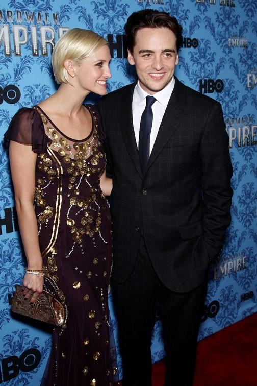 Ashlee Simpson et Vincent Piazza lors de la soirée de lancement de la seconde saison de la série Boardwalk Empire à New York, le 14 septembre 2011.
