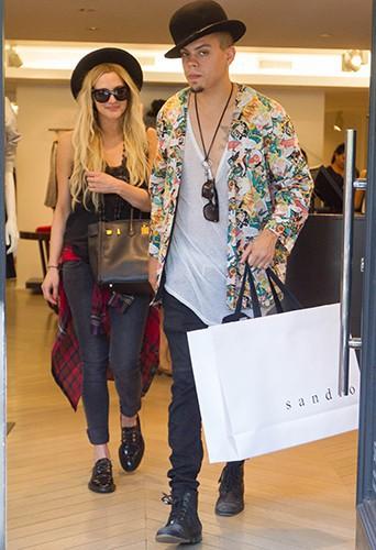 Ashlee Simpson et Evan Ross à New York le 25 juin 2014